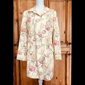 LOFT Floral Trench